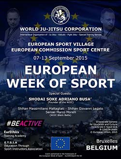 European Week Of Sport World Ju Jitsu Corporation WJJC 7-13 September 2015