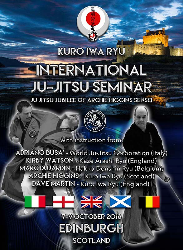 Ju-Jitsu Jubilee Scotland 8-9 October 2016