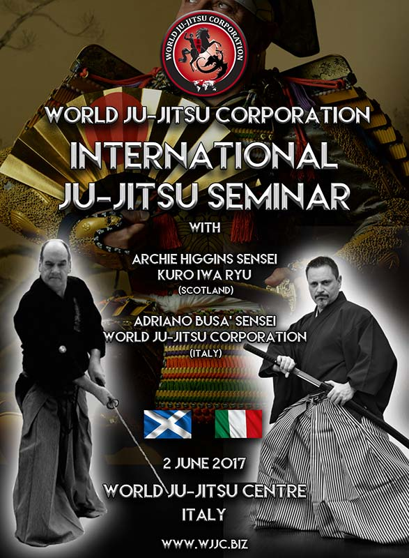 International Ju-Jitsu Seminar with Archie Higgins WJJC Scotland June 2nd 2017 Italy