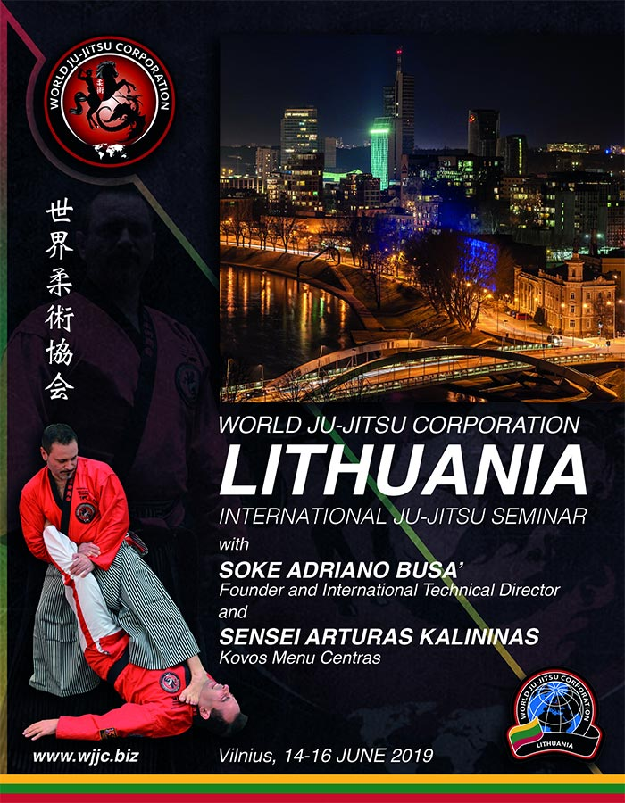 LITHUANIA - Vilnius International Ju-Jitsu seminar and meeting on June14 to 16, 2019