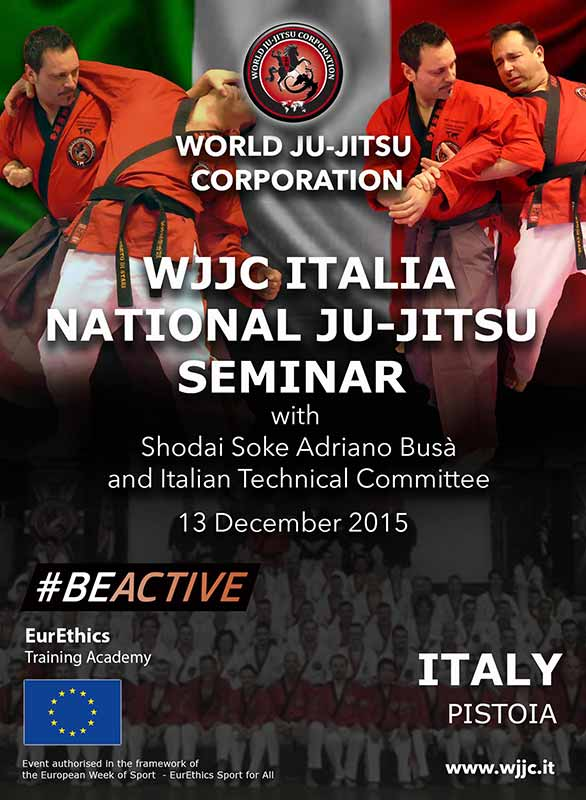 PISTOIA Italy - National Ju-Jitsu Seminar 13 December 2015