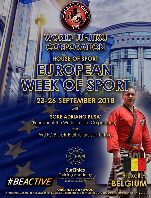 """European Week of Sport"", (EWoS) Bruxelles 2018 September 23th to 26th"