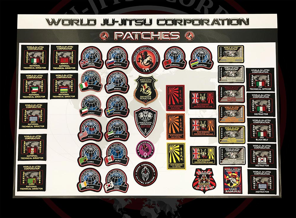 Wjjc Badges World Ju Jitsu Corporation Wjjc Patches Soke Adriano Busa