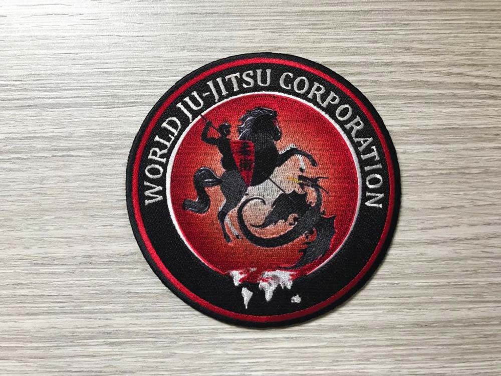 Wjjc Chest Badge World Ju Jitsu Corporation Wjjc Logo Ju Jitsu logo Wjjf Wkf