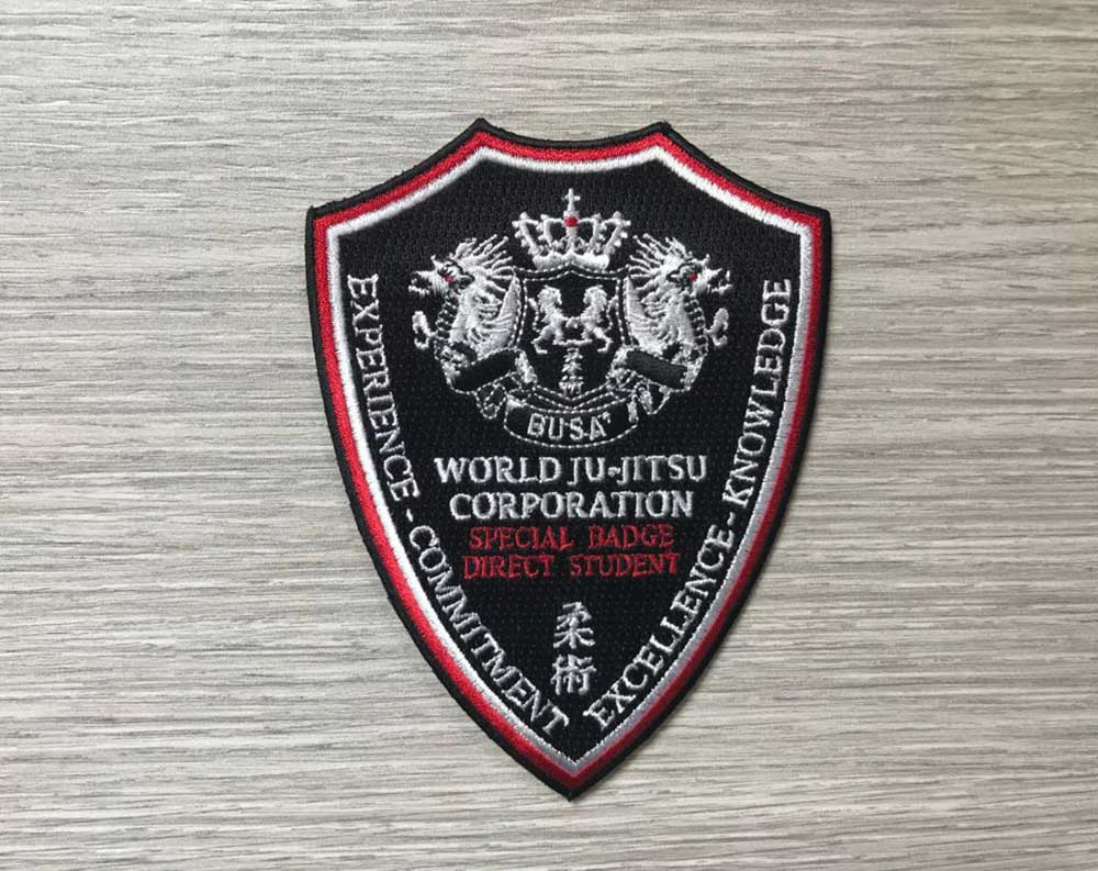 Wjjc Direct Student Badge World Ju Jitsu Corporation Wjjf Jiu Jitsu students