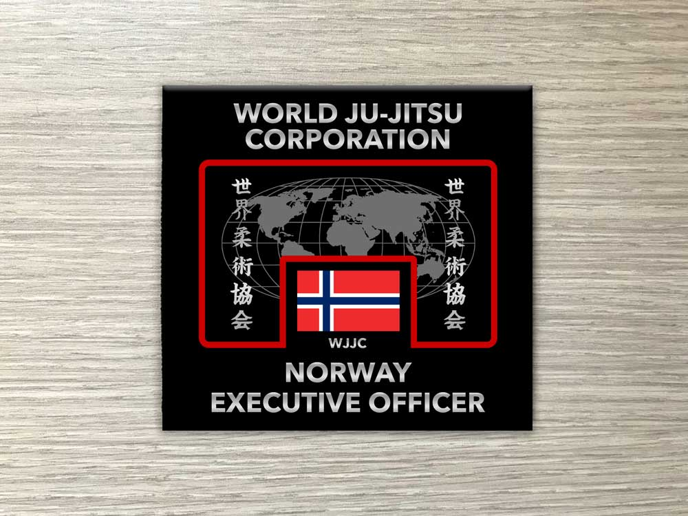 Wjjc Executive Officer Badge for winter Uniform World Ju Jitsu Corporation