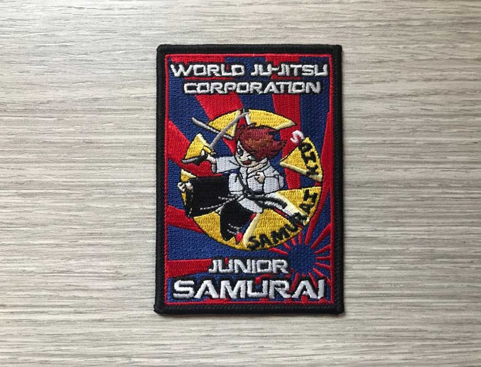Wjjc Junior Samurai Badge World Ju Jitsu Corporation Wjjf Wjjko Wkf Wjja