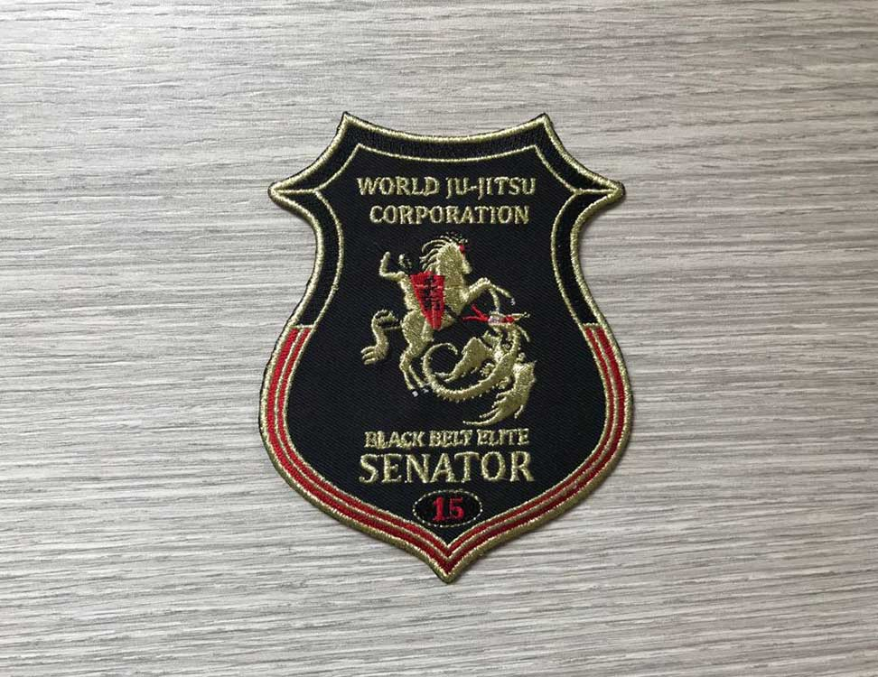Wjjc Senator Badge World Ju Jitsu Corporation Wjjf Old Students