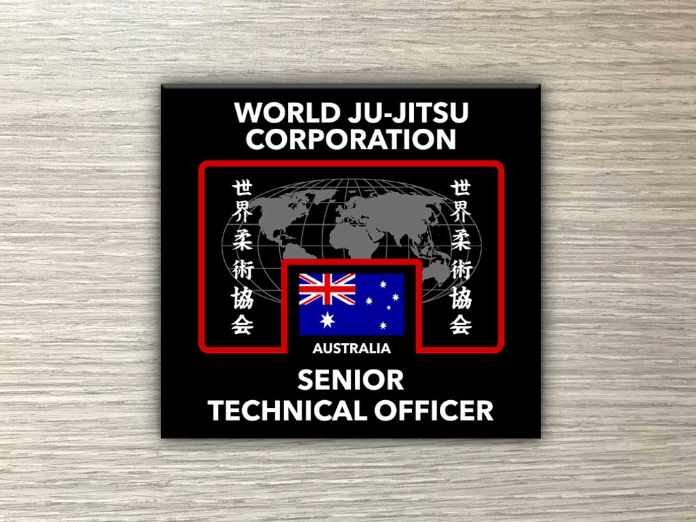 Wjjc Senior Technical Officer Badge for winter Uniform World Ju Jitsu Corporation