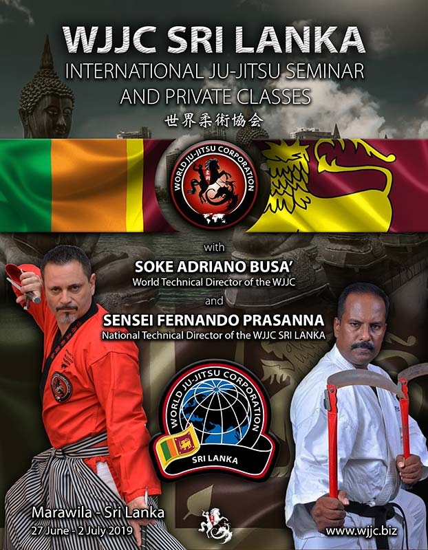 SRI LANKA - Maravilia International Ju-Jitsu Seminar 27 June to 2 July 2019