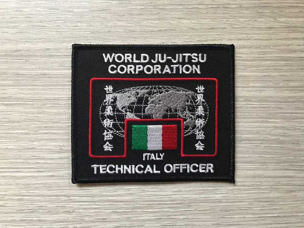 Wjjc Technical Officer Badge for Uniform World Ju Jitsu Corporation Wjjf Wjjko Wkf Wjja