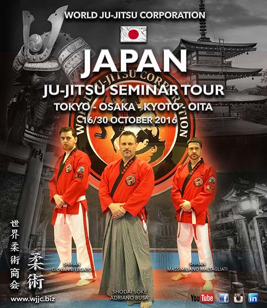 JAPAN Seminar Tour - Ju-Jitsu - October 16th to 30th 2016